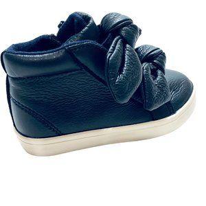 NWT! Zara Pleather Puff Knot Tie High Top Sneaker